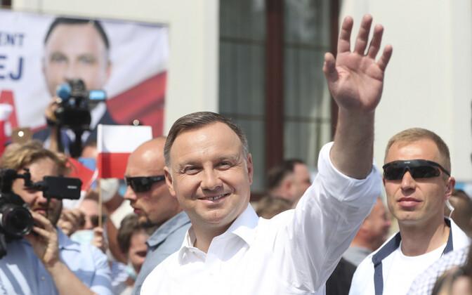 Poola president Andrzej Duda kampaaniaüritusel.