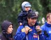 Erki Nool poja Robini ning elukaaslase Kadri Kivisega 2000. aastal Heitjate seeriavõistlusel.