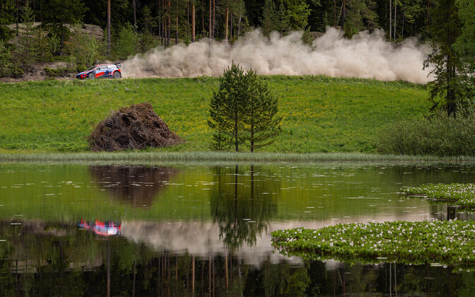 Ott Tänak testing the Hyundai i20 Coupe in Finland in July.