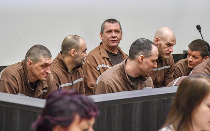 Обвиняемые в организации массовых беспорядков в Вируской тюрьме.