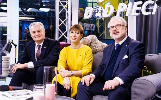 Lithuanian President Gitanas Nauseda (left) with Kersti Kaljulaid and Latvian President Egils Levits meeting in Riga last year.