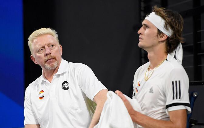 Boris Becker ja Alexander Zverev