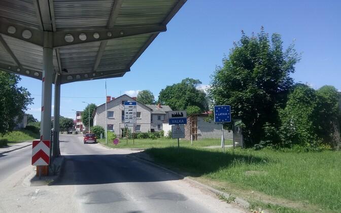 Valga-Valka border crossing.