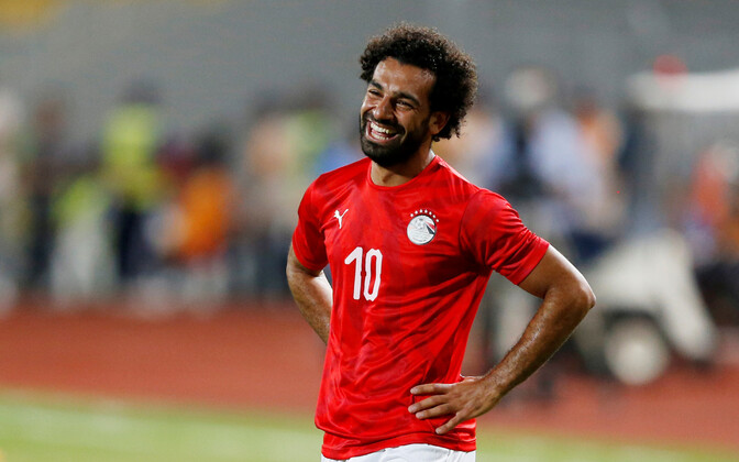 Liverpooli täht Mohamed Salah Egiptust esindamas