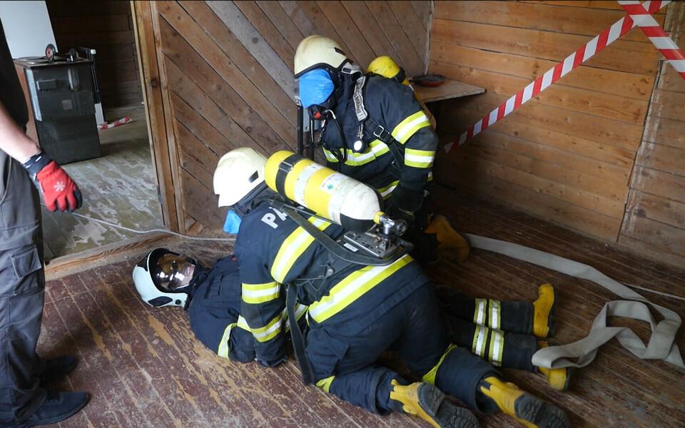 Тренировка будущих спасателей.