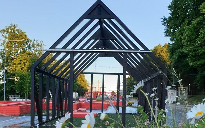 Building of the Tartu Autovabaduse puiestee