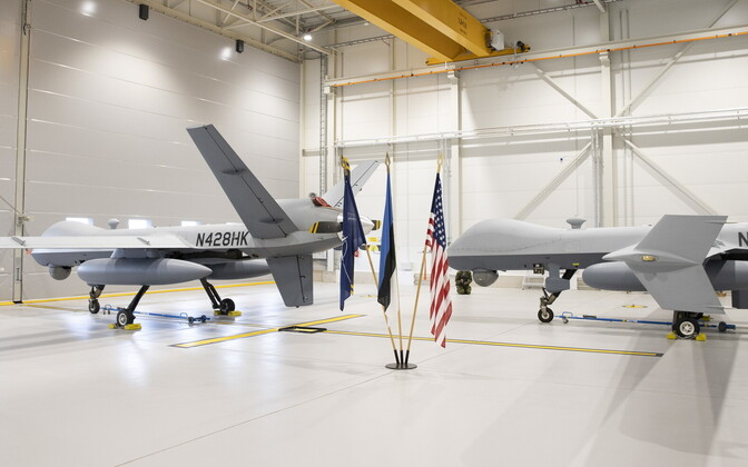 The two MQ-9 Reaper drones currently at Ämari.
