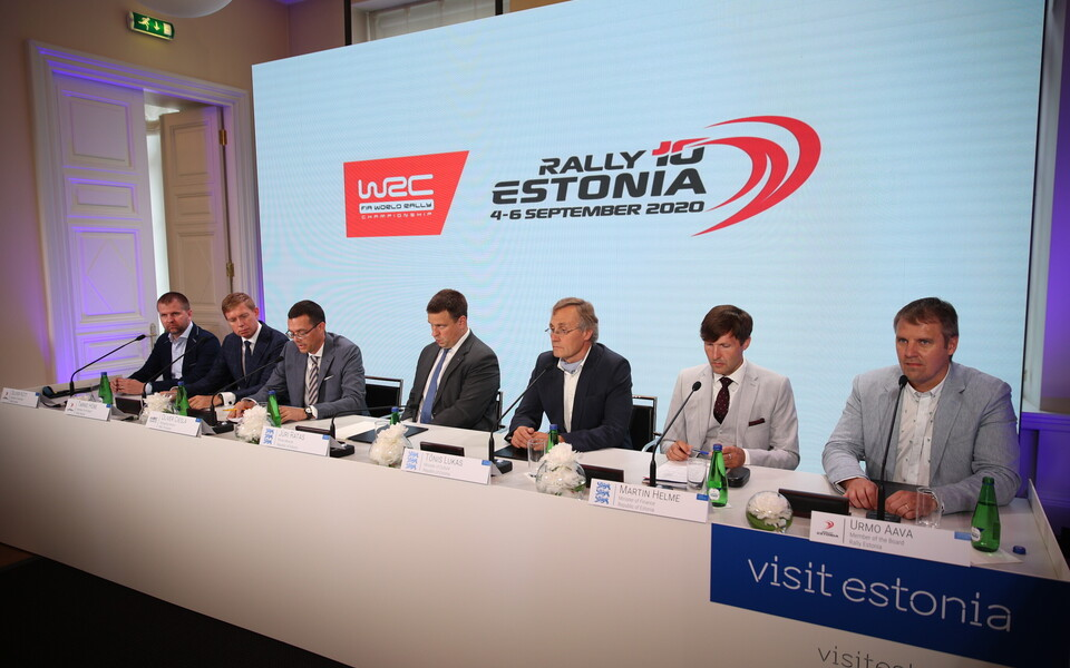 Rally Estonia pressikonverents Stenbocki majas