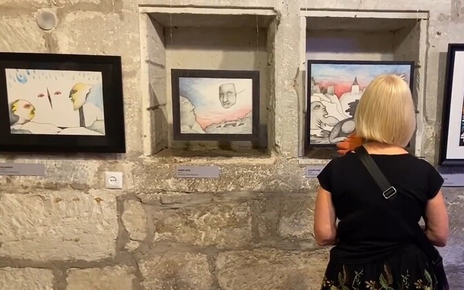Выставка картин Юри Аррака в Курессааре.