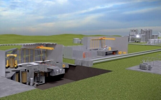 A molten salt reactor being developed by Canadian firm Terrestrial Energy Inc.
