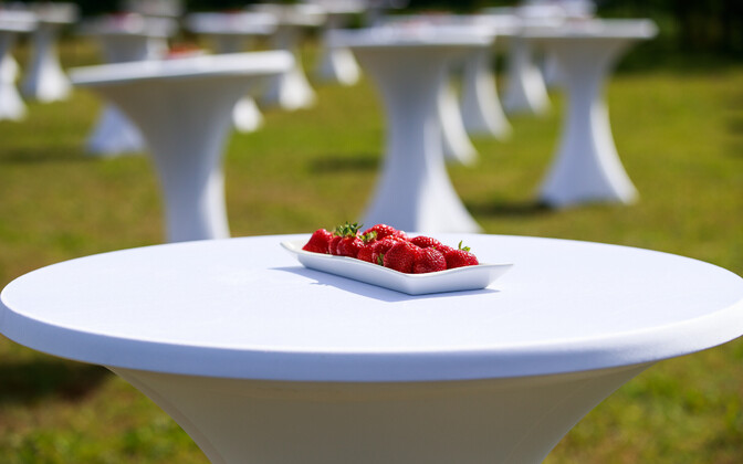 Maasikavaagen Jüri Ratase korraldatud tänuüritusel koroonakriisi lahendajatele