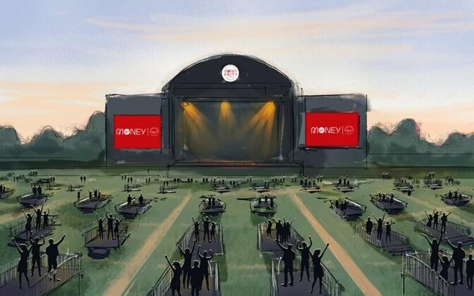 Suurbritannias avatakse esimene sotsiaalselt distantseeritud kontserdipaik