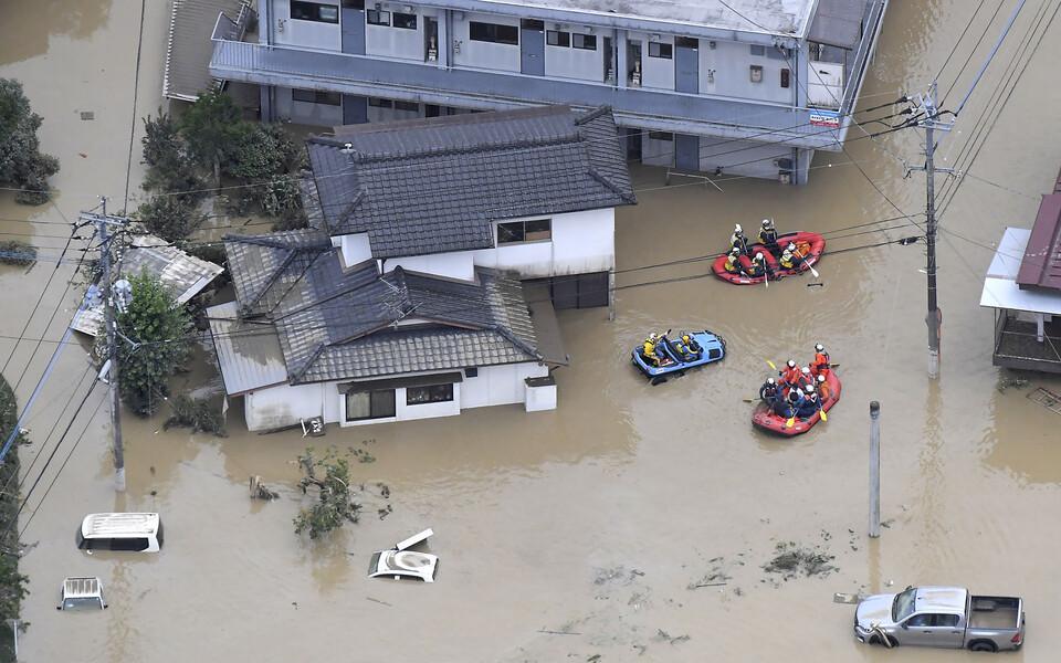 Наводнение в Японии.