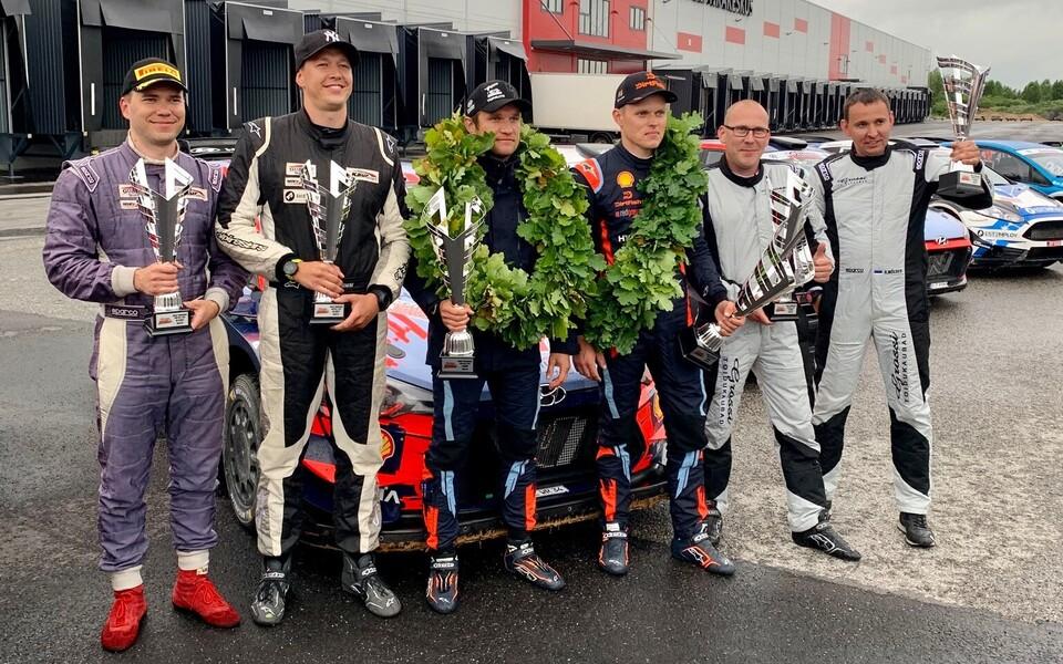Ott Tänak ja Martin Järveoja krooniti esmakordselt Viru ralli võitjateks