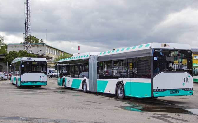 Tallinn's new biomethane-powered buses.