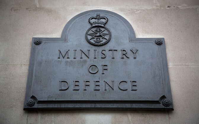 Plaque at the U.K.'s Ministry of Defence building in Whitehall.
