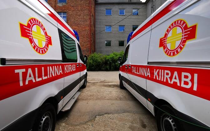 Tallinn Emergency Medical Services vehicles.