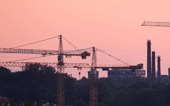 Construction work in Tallinn.
