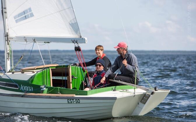 Kersti Kaljulaid 2019. aasta A. Le Coq 62. Muhu Väina regatil jahil Jonna