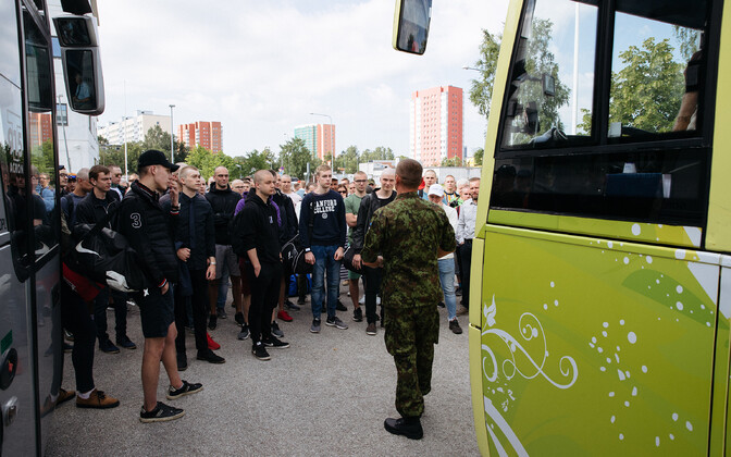 Conscripts at Mustamäe in 2019.