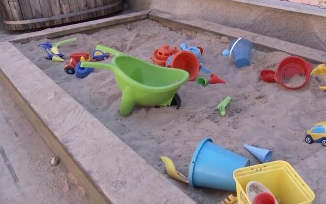 Sandbox in a kindergarten. (photo is illustrative)