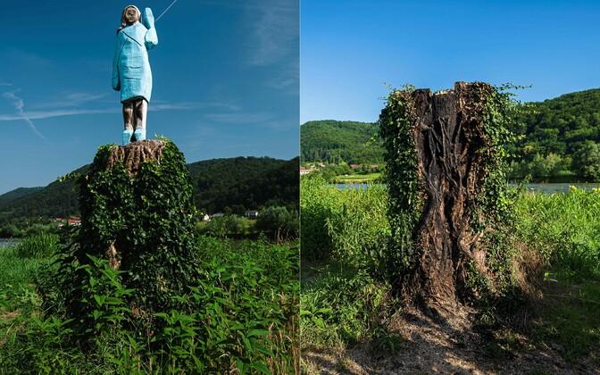 Melania Trumpi skulptuur Sloveenias. Nüüdseks on skulptuur eemaldatud.