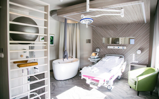 Renovated delivery room in the public Pelgulinna Maternity Hospital in Tallinn.
