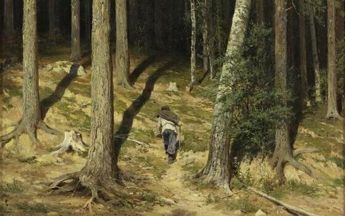 Ivan Šiškin. Männimets. 1878.