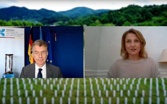 Virtual UN event commemorating the 25th anniversary of the Srebrenica genocide.