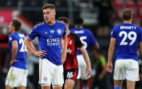 Pettunud Leicester City mängijad.