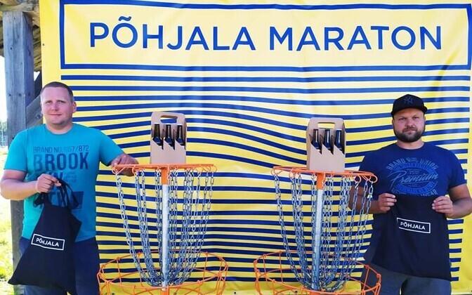 Maratoni võitjad Ronald Rotenberg ja Taavi Lillemäe.