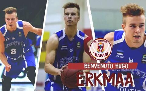 Hugo Erkmaa liitus Itaalias Trapani klubiga.