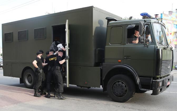 Valgevene politsei eriüksuslased.
