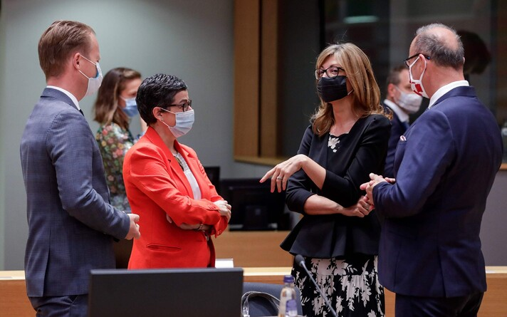 Главы МИД стран ЕС в Брюсселе.