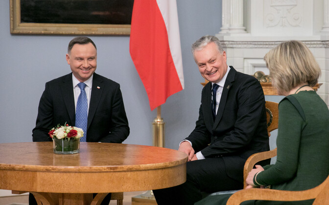 Poola president Andrzej Duda ja Leedu president Gitanas Nauseda.