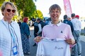 President Kersti Kaljulaid teeb kaasa Muhu Väina etapi.