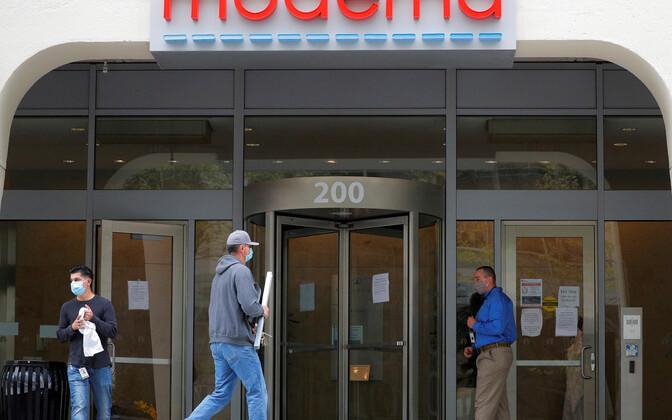 Faraatsiaettevõtte Moderna sisepääs MassachusettsIS.