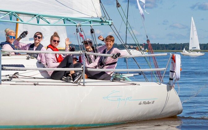 President Kersti Kaljulaid at the Moonsund Regatta.