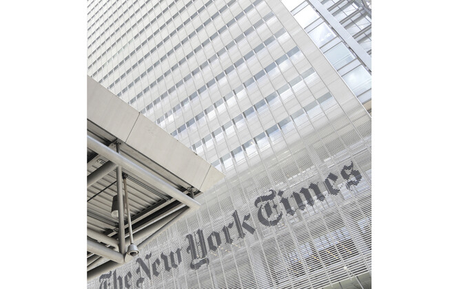The New York Timesi tooimetuse hoone.