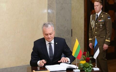 Президент Литвы Гитанас Науседа во время визита в Эстонию в августе 2019 года.