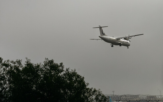 Plane landing at Tallinn Airport. Photo is illustrative.