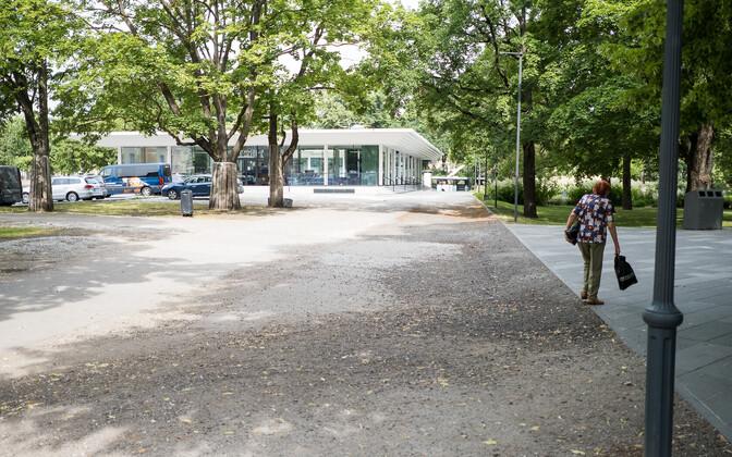 Территория, на которой построят детскую площадку.