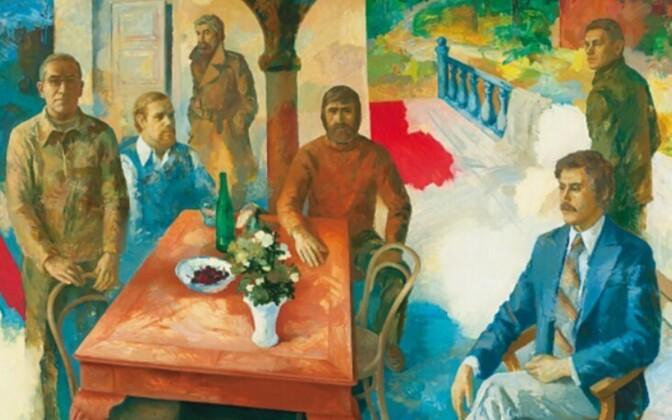 Olev Subbi. Rahvuspargi kunstinõukogu. 1979, õli, tempera, masoniit.