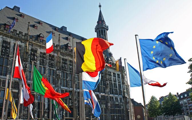Флаги европейских стран.