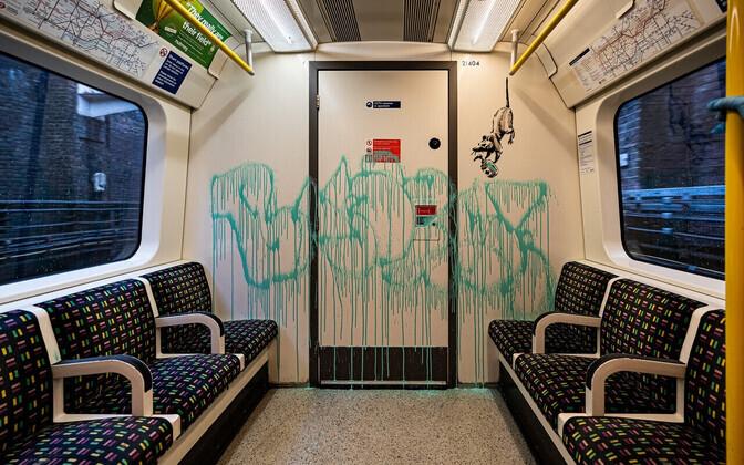 Banksy töö Londoni metroos