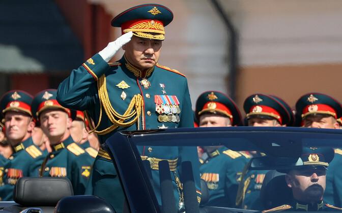 Vene kaitseminister Sergei Šoigu Suure Isamaasõja võiduparaadil Punasel väljakul 24. juunil. .