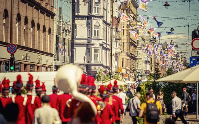 Riga's Terbatas iela, named after Tartu, will be car-free until mid-August