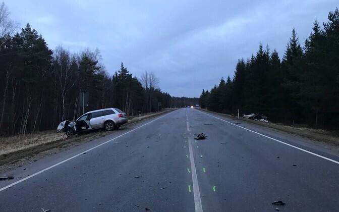 Car crash in Saaremaa.