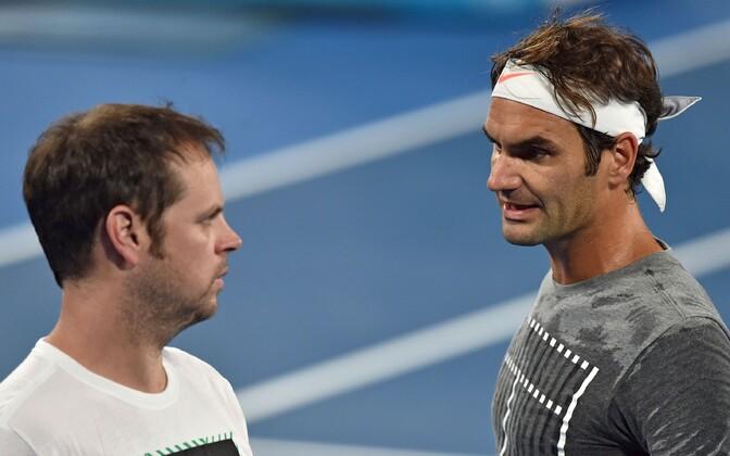 Severin Lüthi ja Roger Federer