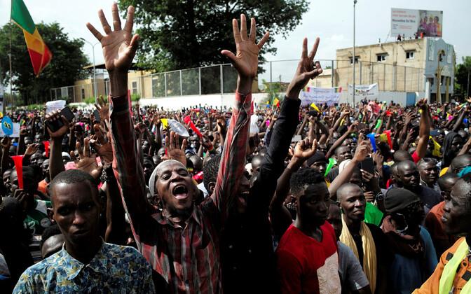 Malis toimunud meeleavaldus.